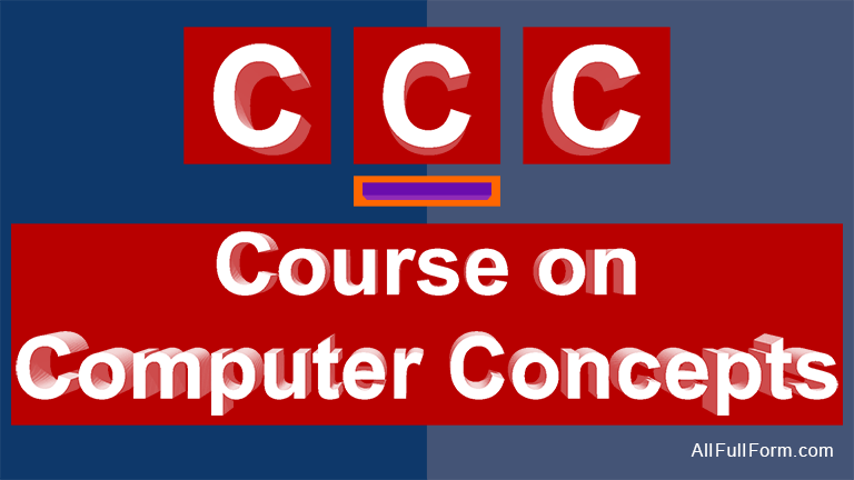 CCC: Course on Computer Concepts
