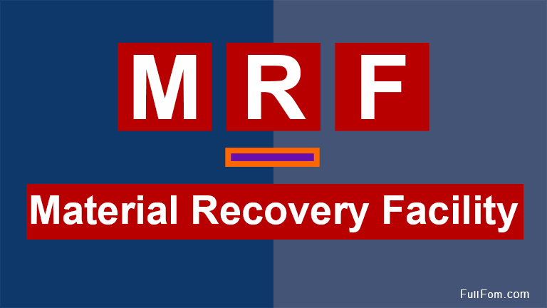 Material Recovery Facility