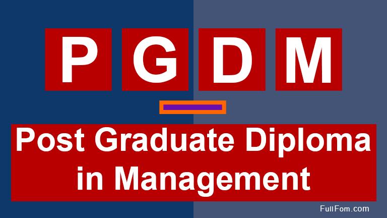 PGDM full form